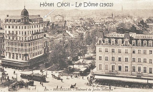 Place Rogier - Boulevard Botanique - Hôtel Cécil (Actuel Le Dôme) (1902) - Hôtel des Boulevards Bruxelles-Bruxellons