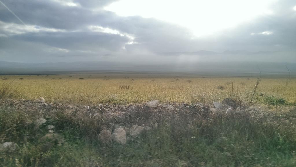 al fondo, los Cerricos, el Serral y la Sierra de Salinas