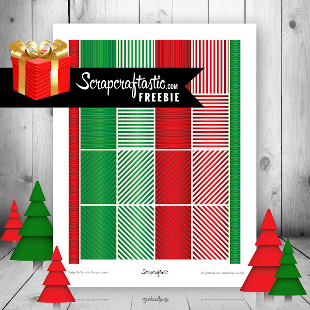 Christmas Stripes Free Printable Planner Stickers