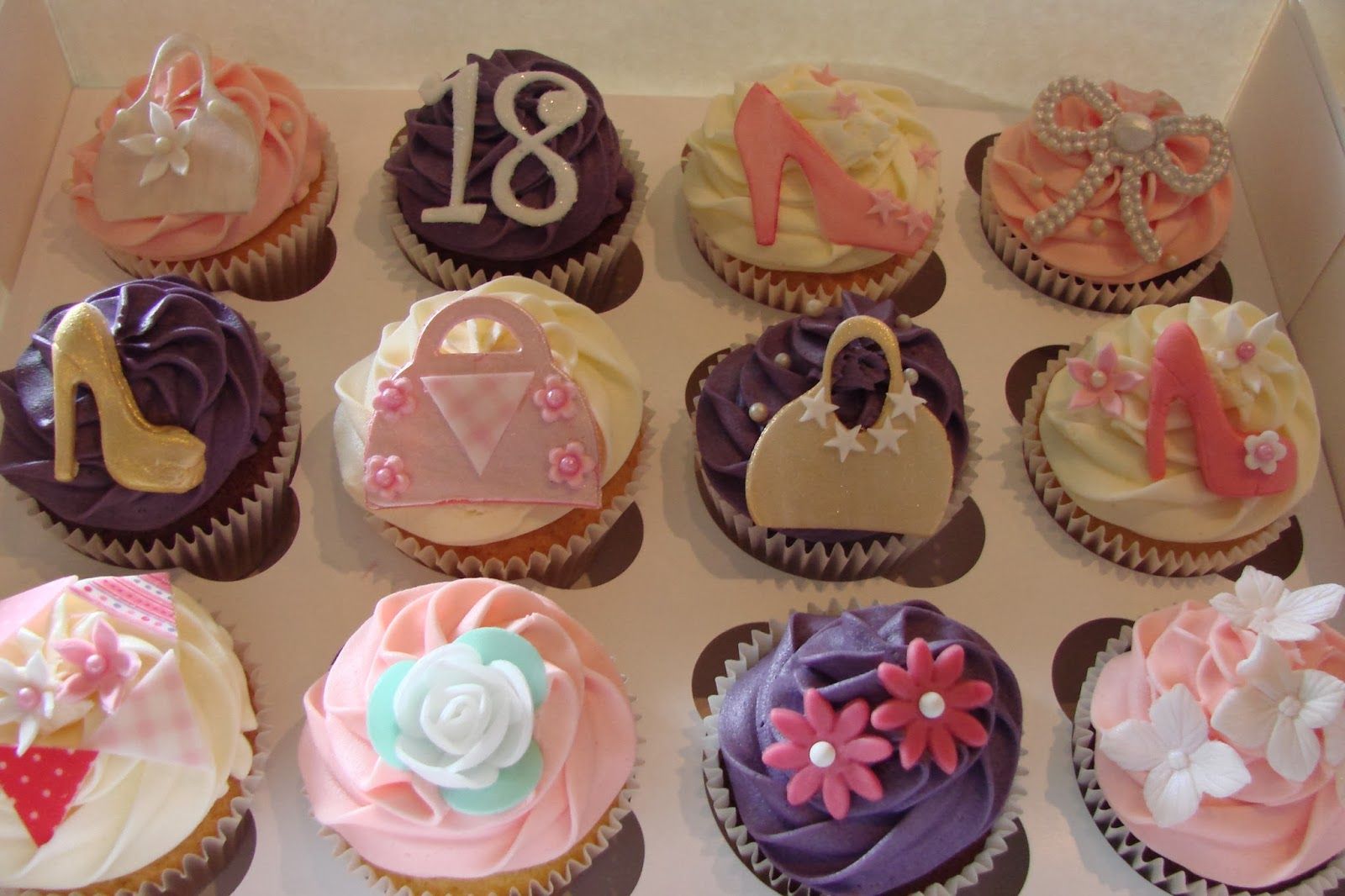 Sweet And Fancy 18th Birthday Cupcakes