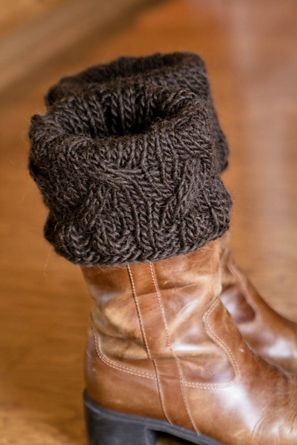 Big Needle Knitting Patterns Free : anna knits, etc.: knitting, etc. - boot topper