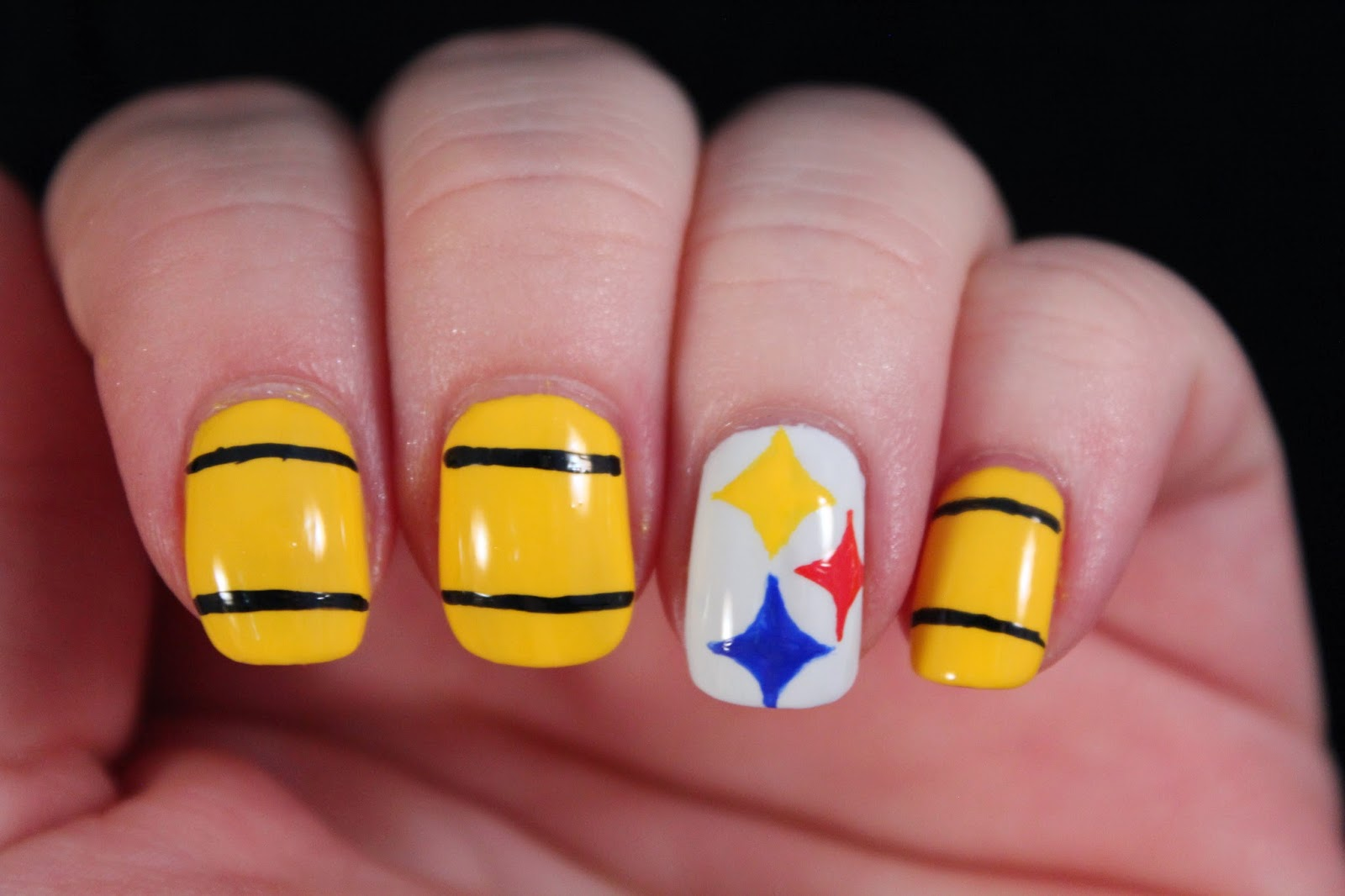 Glimpses Of The Moon Steelers Nail Art Tutorial