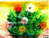 flower, oil pastel, 1999