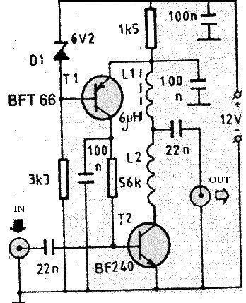 VHF       Antenna    Amplifier   Simple    Schematic    Collection