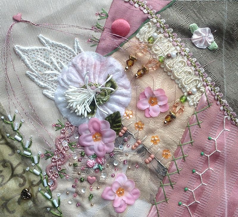 Crazy quilt embellishments on pinterest quilting