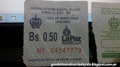 Ticket para baño - Gambeteandoconladepalo