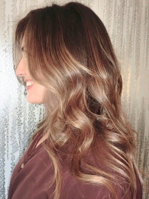 honey brown shade highlights