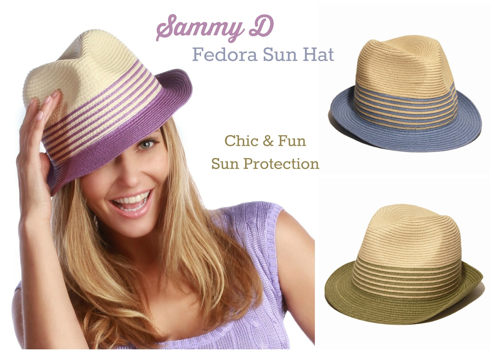 Sammy D Fedora Chic and Fun Sun Protection
