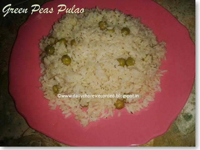 Green Peas Pulao