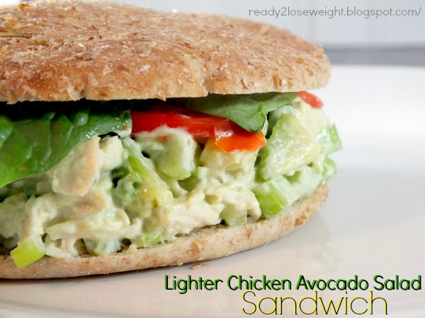 Ready 2 Lose Weight: Lighter Chicken Avocado Salad Sandwich
