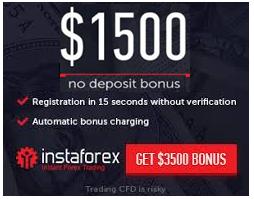 InstaForex No Deposit Bonus 1500