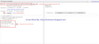 Minify javascript yang direkomendasikan oleh google
