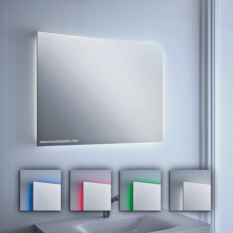 Espejo con luz para el ba o tu cocina y ba o - Iluminacion para espejos de bano ...