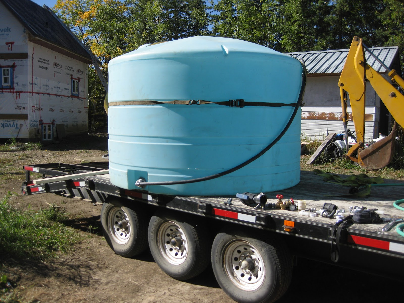 Water Tank Plumbing : Simple man plan underground water tank installation