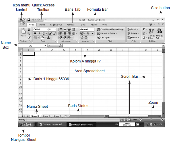 Menu Dan Icon Pada Microsoft Excel   marvitapl