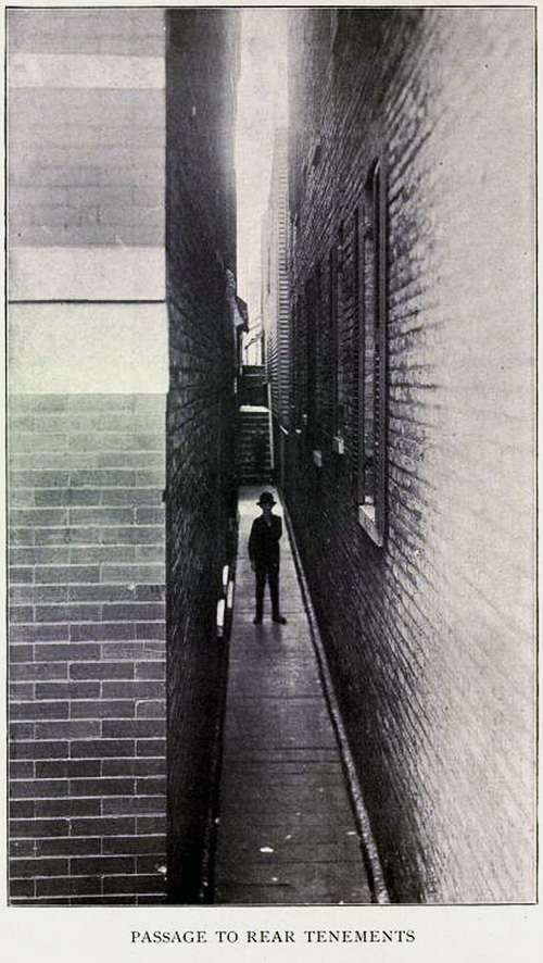 Passage to rear tenements