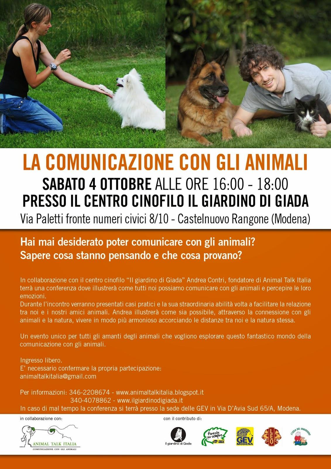 Animal talk italia conferenze - Il giardino di giada ...