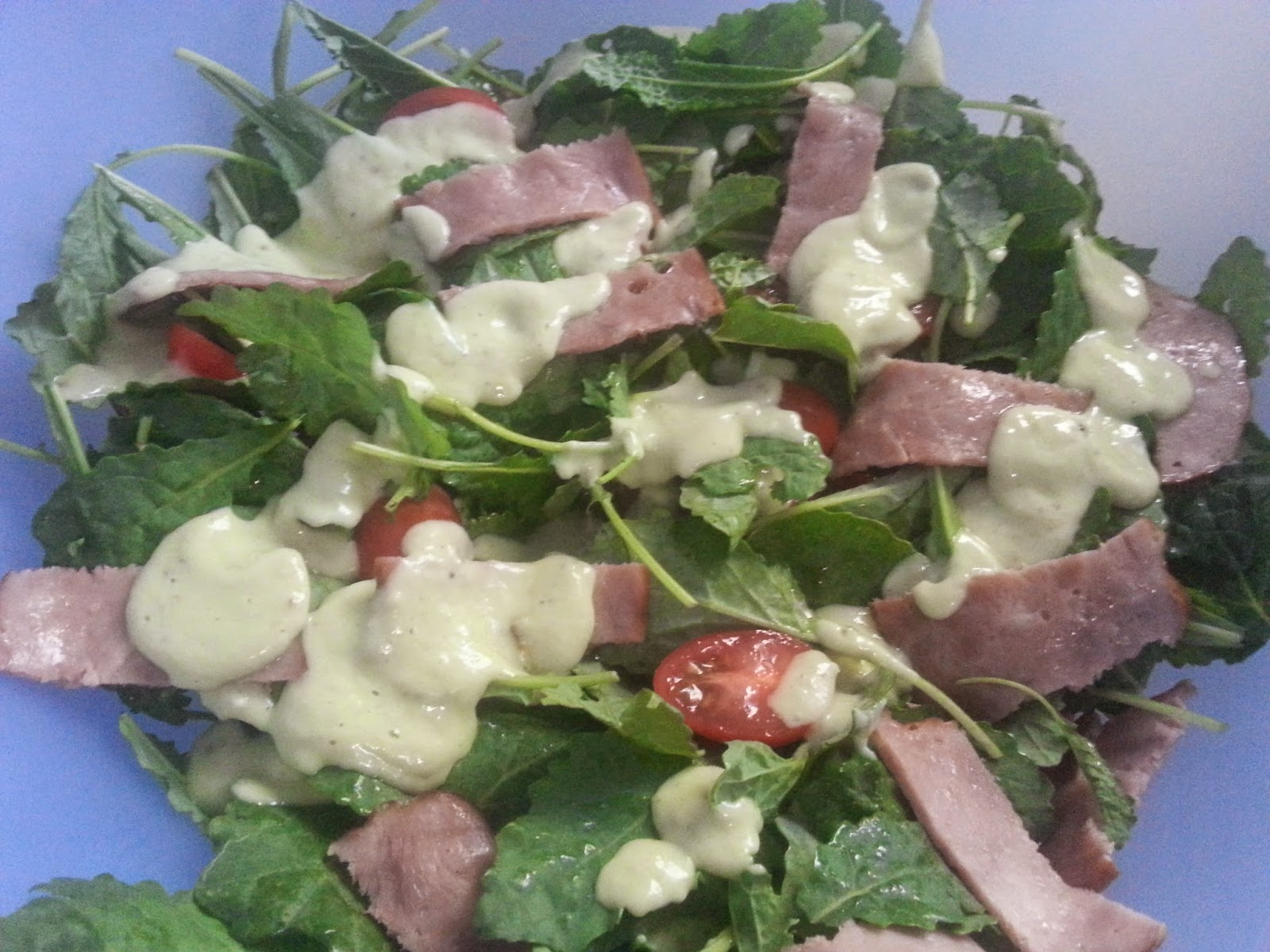 Healthy Life Lessons: BLT Salad With Avocado Buttermilk Dressing