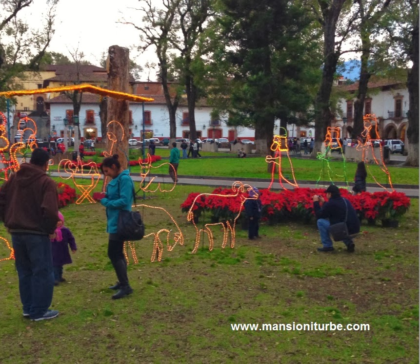 Tourist enjoying Christmas in Patzcuaro