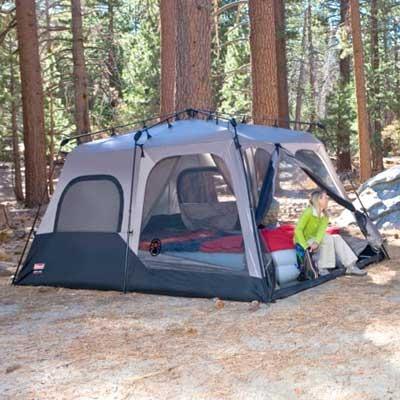 & Coleman 8 person 2 room instant tent 14 u0027 x 10u0027