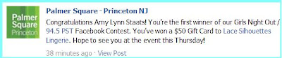 Congrats Amy Lynn Staats... yesterday's winner!