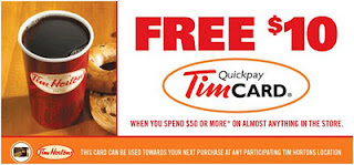 Free $10 Tim Hortons Card