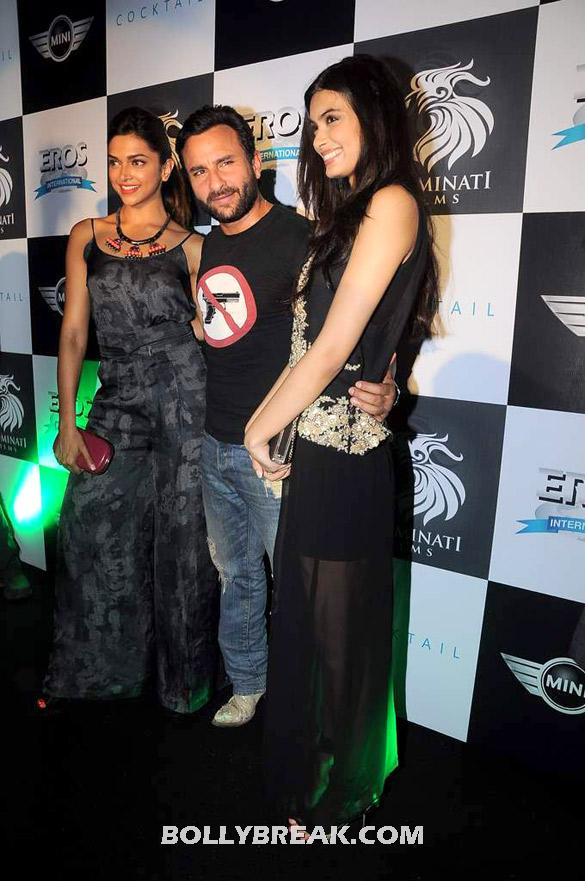 Deepika in a spaghetti romper and diana in a black chiffon skirt - (3) -  Deepika, Diana and Saif @ 'Cocktail' party