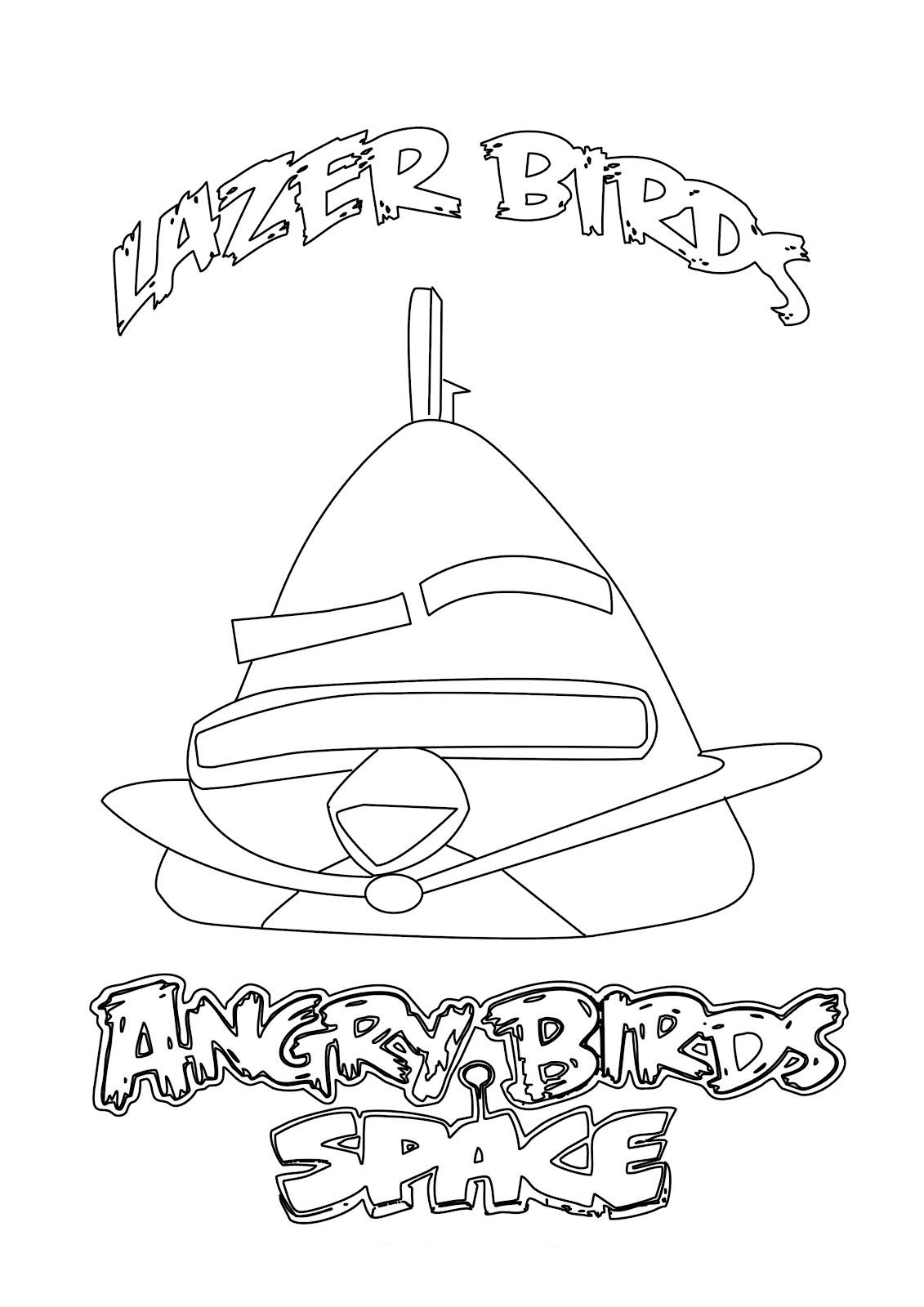 Lazer Birds para colorear y pintar ~ Colorea el dibujos