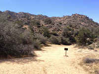 Lower junction for Panorama Loop Trail and Black Rock Canyon Trail, Joshua Tree National Park