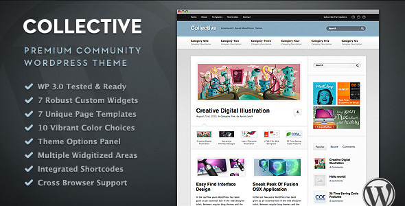 Collective Community and Magazine WordPress Theme Free Download by ThemeForest.