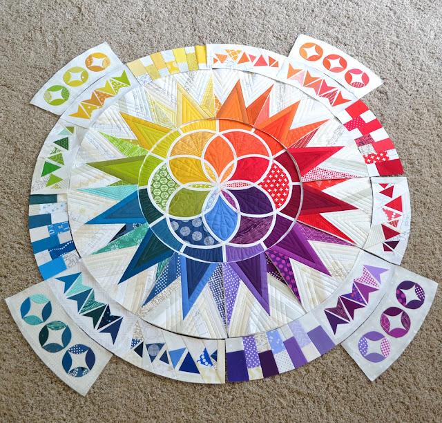 Rainbow BOM quilt
