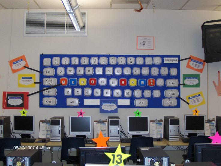 Computer Classroom Decoration ~ Ideas for elementary classroom technology organization