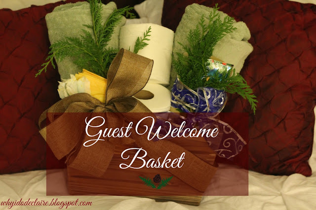 guest welcome basket tutorial