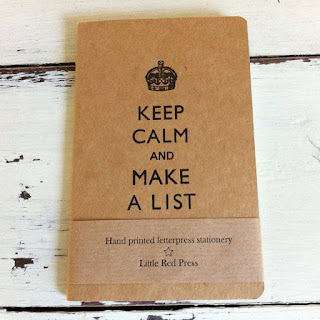 keep calm and make a list