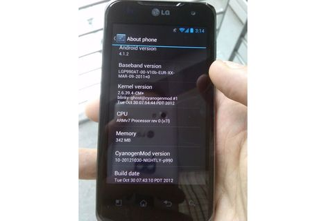 Android-Smartphone LG Optimus Speed Android 4.1