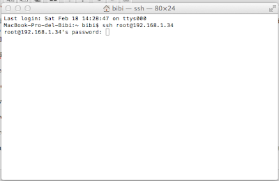 your SSH connection