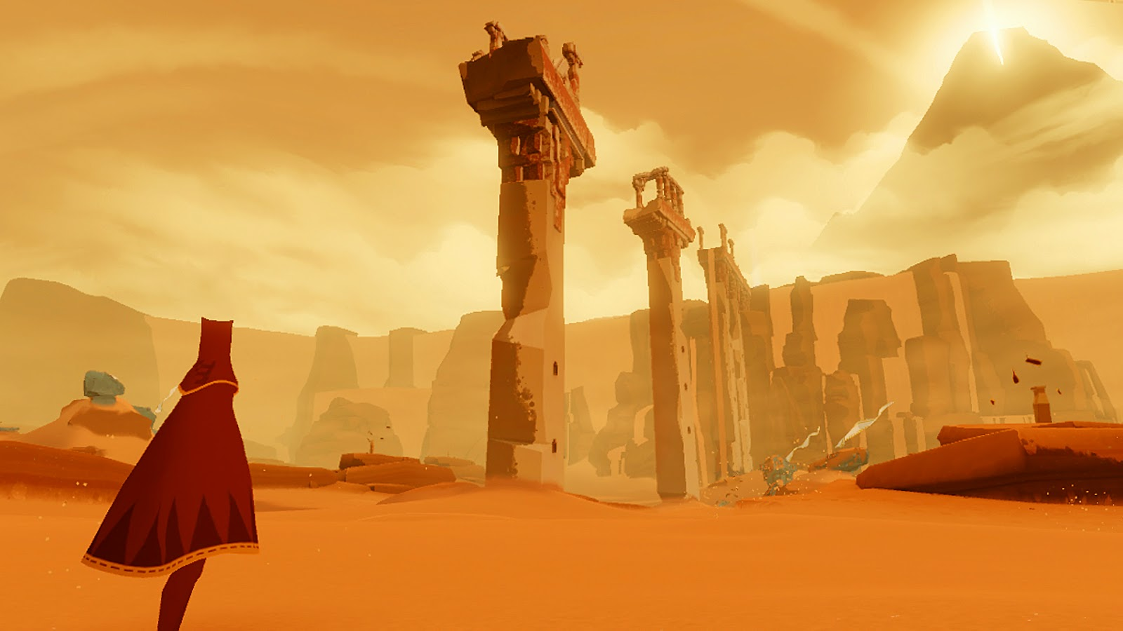 Journey game screenshot desert