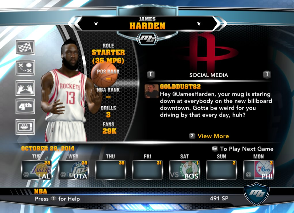 nba 2k14 James Harden mycareer patch download hoopsvilla