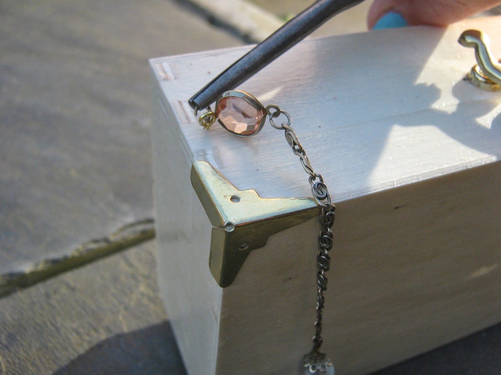DIY Wooden Box Clutch Bag