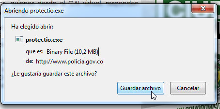 Guardar archivo ejecutable