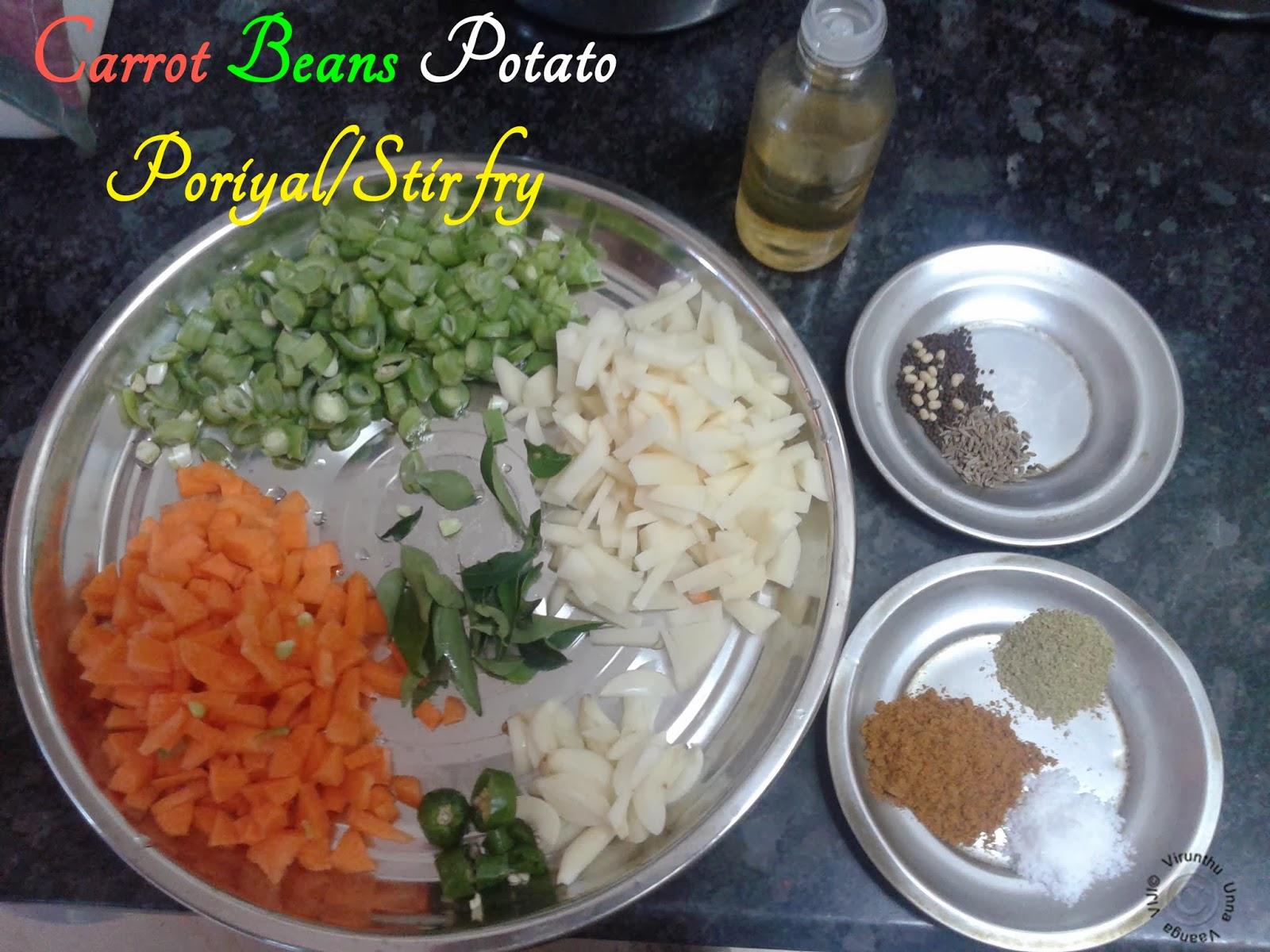 Carrot-beans-poriyal