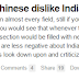 Chinese man Asks On Quora, 'Why do Chinese dislike India and Indians?' Indians Give a Exact Answer