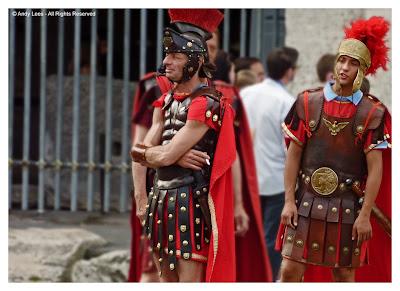 centurions at coliseum rome