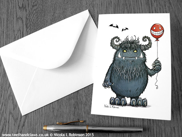 © Nicola L Robinson 2015 www.teethandclaws.co.uk Monster Birthday Card