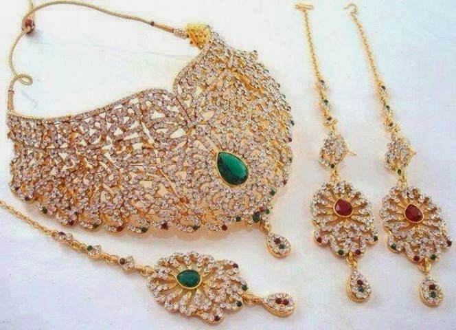 Beautiful Latest Bridal Wedding Jewellery Sets 201415 hotblended