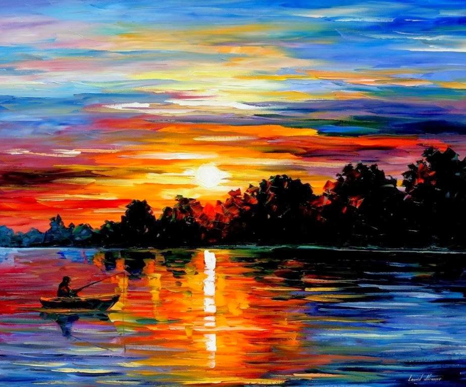 Pintura moderna y fotograf a art stica paisajes marinos - Ver colores de pintura ...