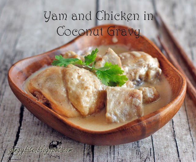 Yam (Taro) and Chicken in Coconut Gravy 芋头椰子鸡