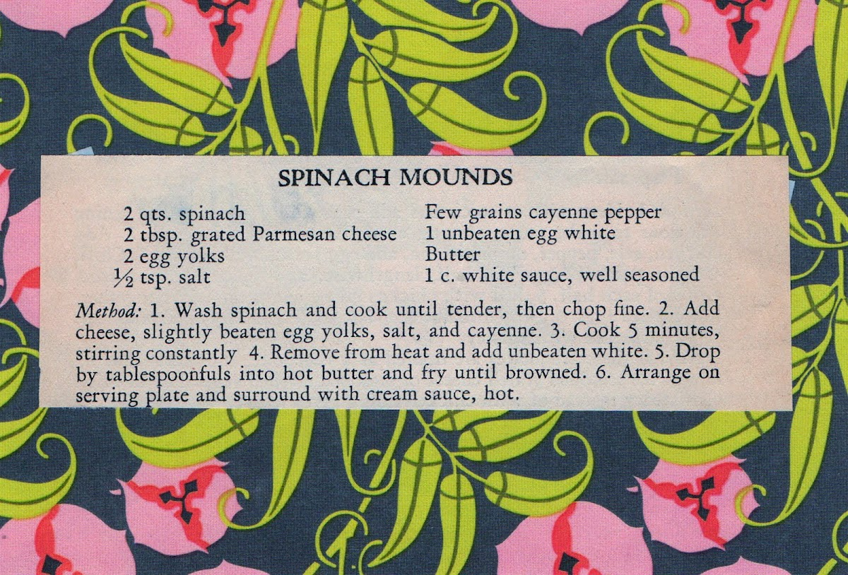 Spinach Mounds (quick recipe)