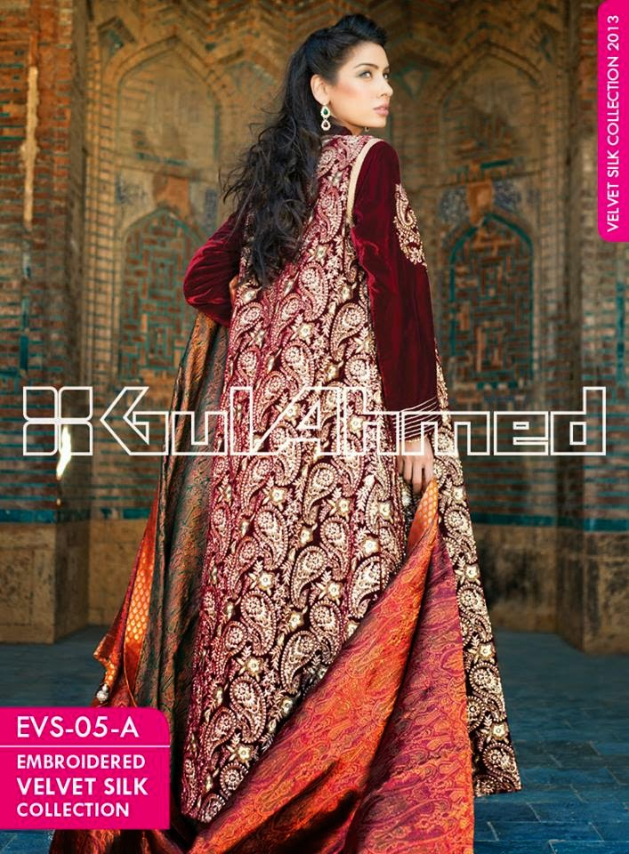 Gul Ahmed Embroidered Silk Coats Dress