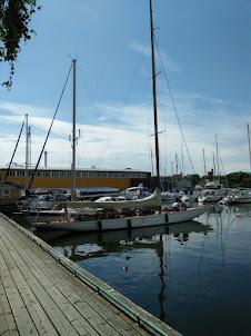 Djurgarden pier in Stockholm.